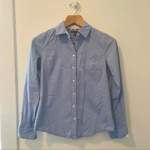 Blue Tommy Hilfiger Oxford Button-Up Shirt
